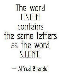 the word listen contains the same word as silent alfred brendel