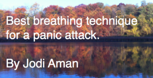 best breathing technique for a panic attack