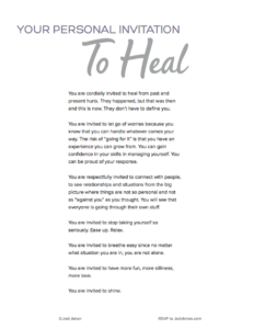 invited to heal poster