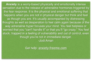 anxiety is