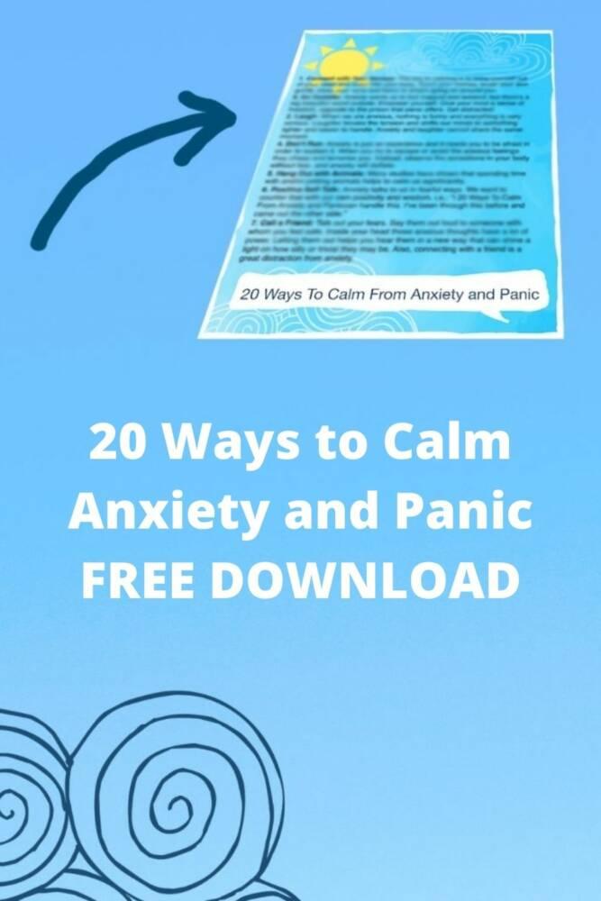 20 ways to calm anxiety
